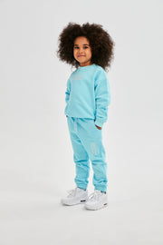 Solid Blue Kids Sweatpants