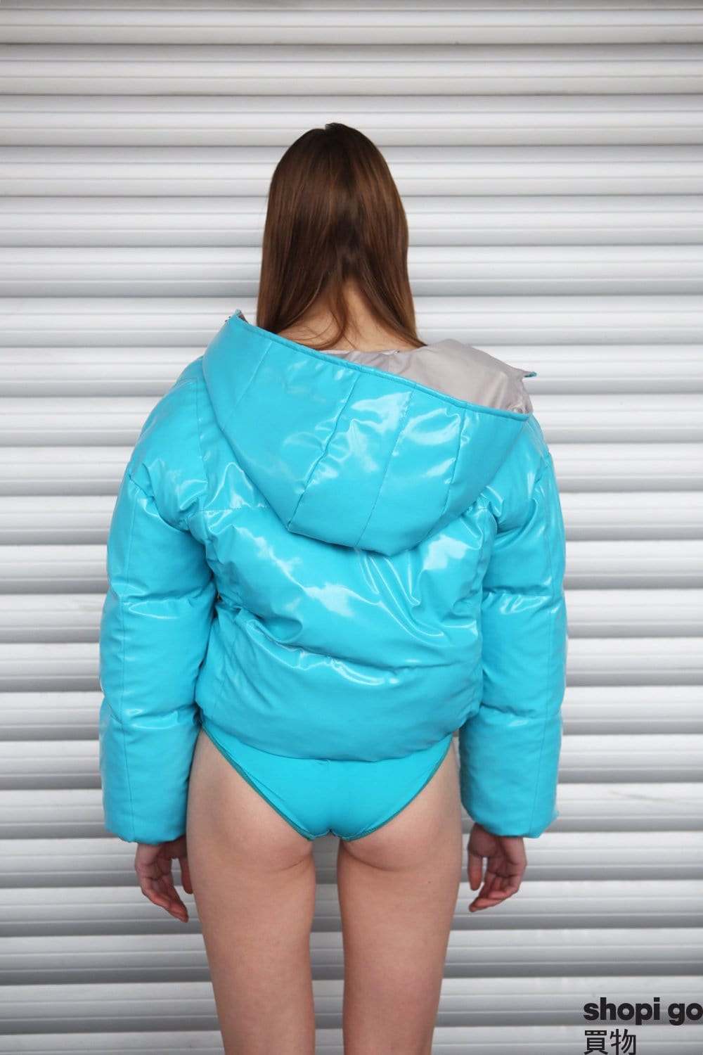 """Turquoise Blue"" puffer jacket"