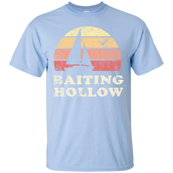 Baiting Hollow NY T-Shirt Vintage Sailboat 70s Sunset Tee - Gifshirt