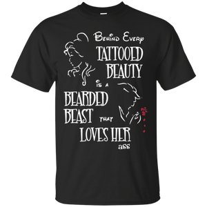 behind every tattooed beauty is a bearded beast that t-shirt - Gifshirt