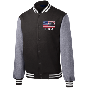 American USA Flag Ice Hockey T-Shirt Patriotic Sports jacket - Gifshirt