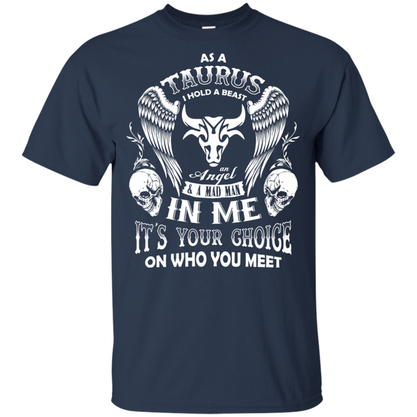 As A Taurus I Hold An Angel In Me With Proud T-Shirt - Gifshirt