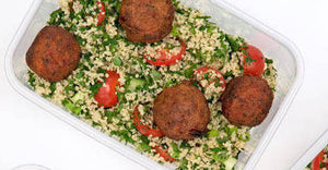 Vegan lunch falafel Mediterranean