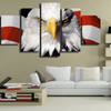 FRAMED US EAGLE 5 PIECE CANVAS V2