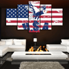 FRAMED EAGLE US FLAG 5 PIECE CANVAS V2