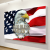 FRAMED US EAGLE 5 PIECE CANVAS V3