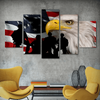 FRAMED US EAGLE FLAG 5 PIECE CANVAS