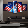 FRAMED STATUE OF LIBERTY 5 PIECE CANVAS