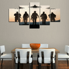 FRAMED US ARMY 5 PIECE CANVAS
