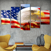 FRAMED US EAGLE 5 PIECE CANVAS