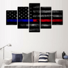 FRAMED US FLAG 5 PIECE CANVAS