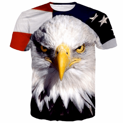 EAGLE FACE USA T-SHIRT