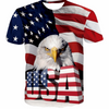SUMMER USA EAGLE 3D T-SHIRT