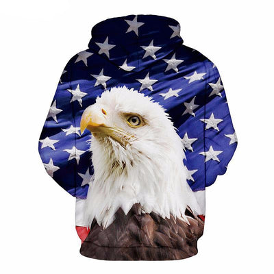 Blue Eagle USA Flag Hoodie