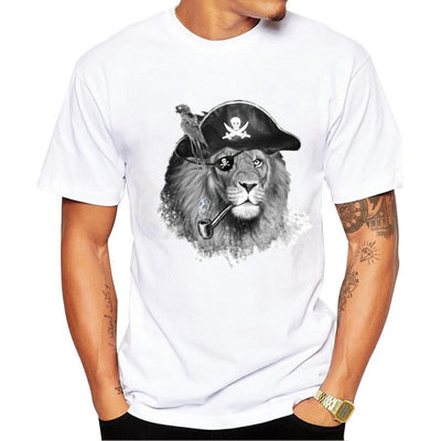 COOL PIRATE OF THE WOLVES 3D T-SHIRT