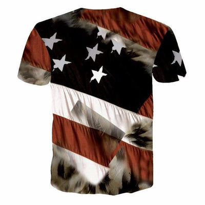 EXCLUSIVE: EAGLE USA FLAG 3D T-SHIRT