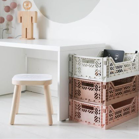 Kids room storage crates