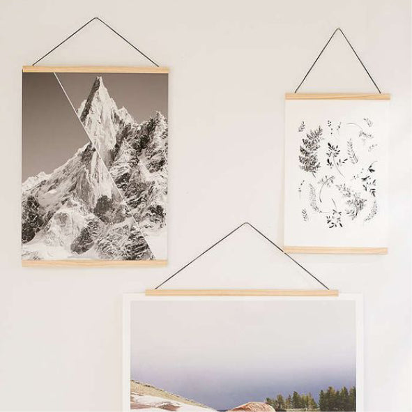 Magnetic wood frames for prints
