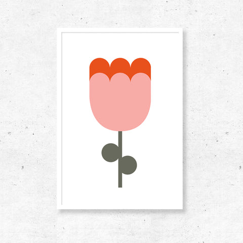 Abstract Print - Flower