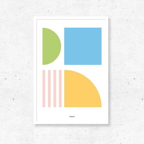 Abstract Print - Spring Colours