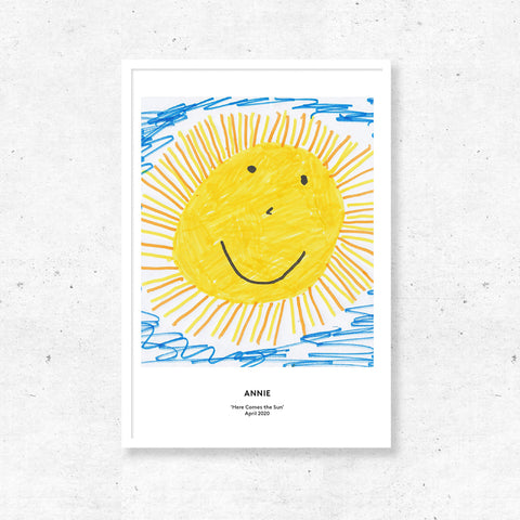 Art Print by Kids - Square Template