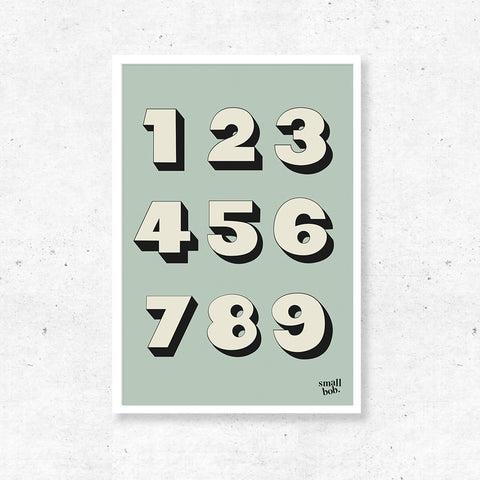 Numbers Print - Green