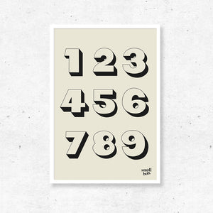 Numbers Print - Off White