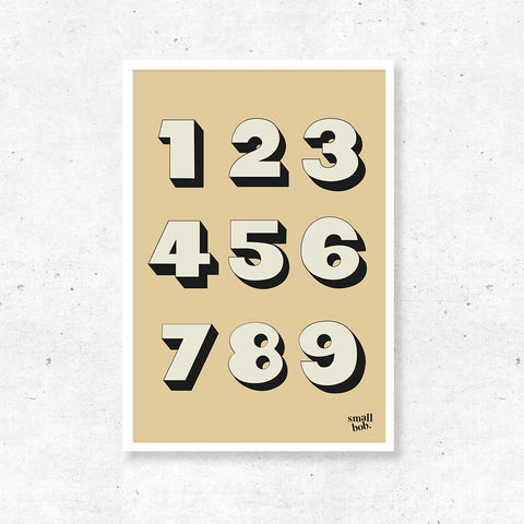 Numbers Print - Yellow