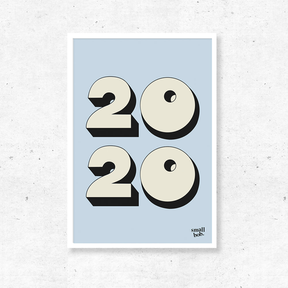 Numbers Print - Special Year Blue