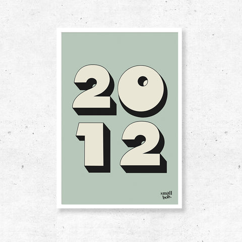 Numbers Print - Special Year Green