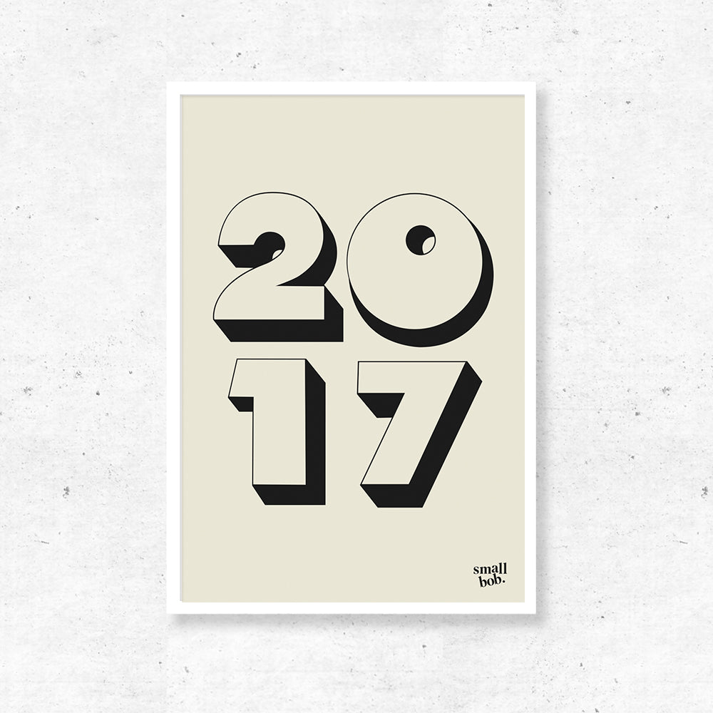 Numbers Print - Special Year Off White
