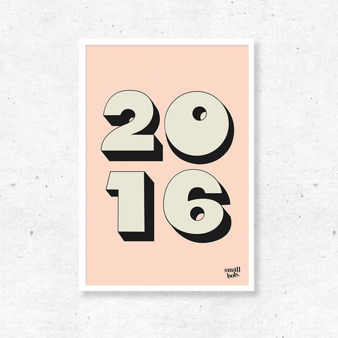 Numbers Print - Special Year Pink