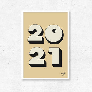 Numbers Print - Special Year Yellow