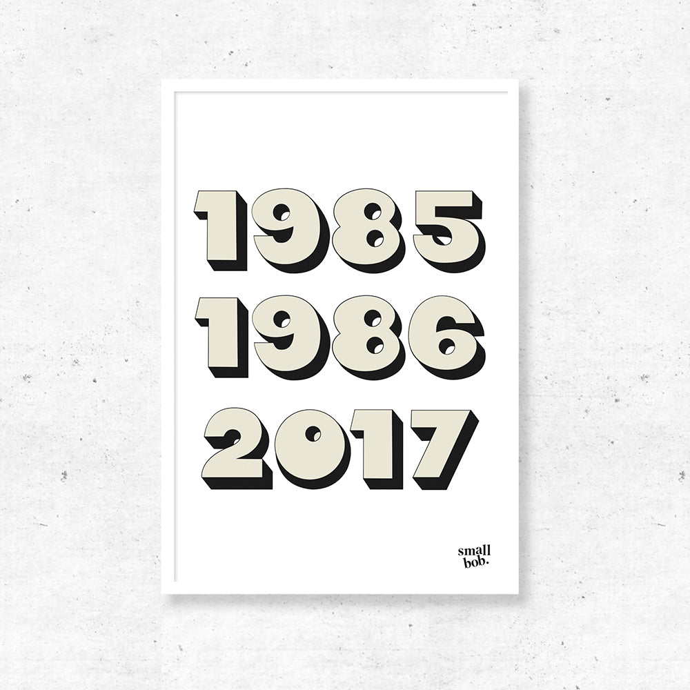 Numbers Print - Special Years
