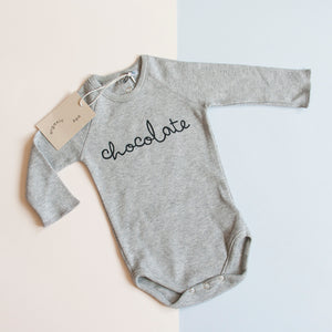 Chocolate Bodysuit 3-6M - Small Bob