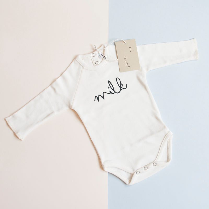 Organic Zoo is a well acclaimed brand for children which has made a name for itself with their playful, minimal and original designs. The Milk bodysuit is a good quality piece that will last long and a neutral and useful gift for baby.
