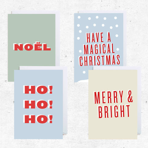 Christmas Greeting Cards - Bundle of 4