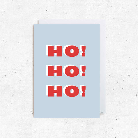 Christmas Greeting Cards - HO HO HO