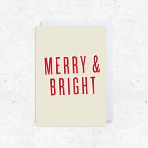 Christmas Greeting Cards - Merry & Bright