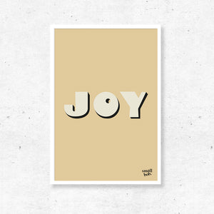 Wall Art - JOY Print