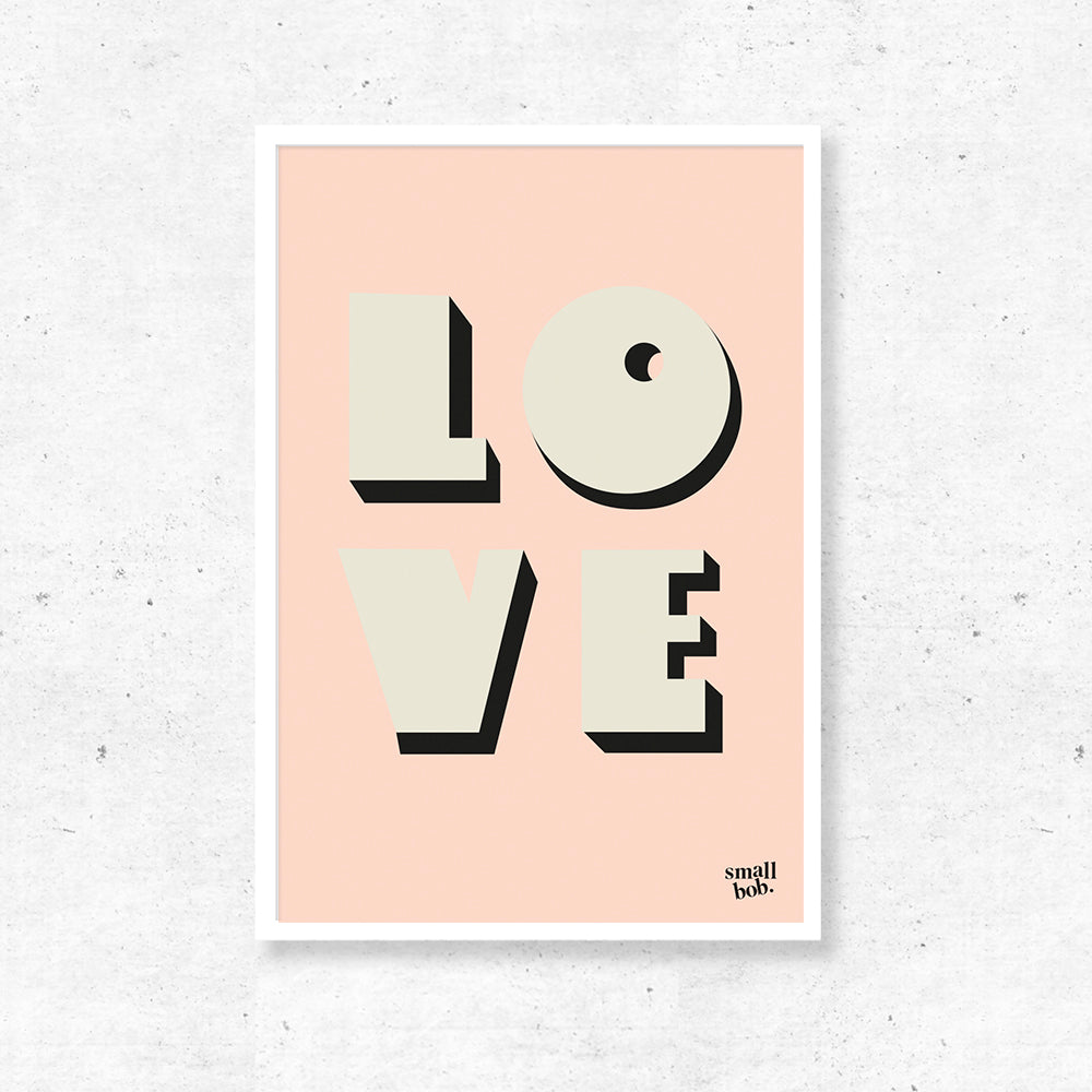 Wall Art - LOVE Print - Pink