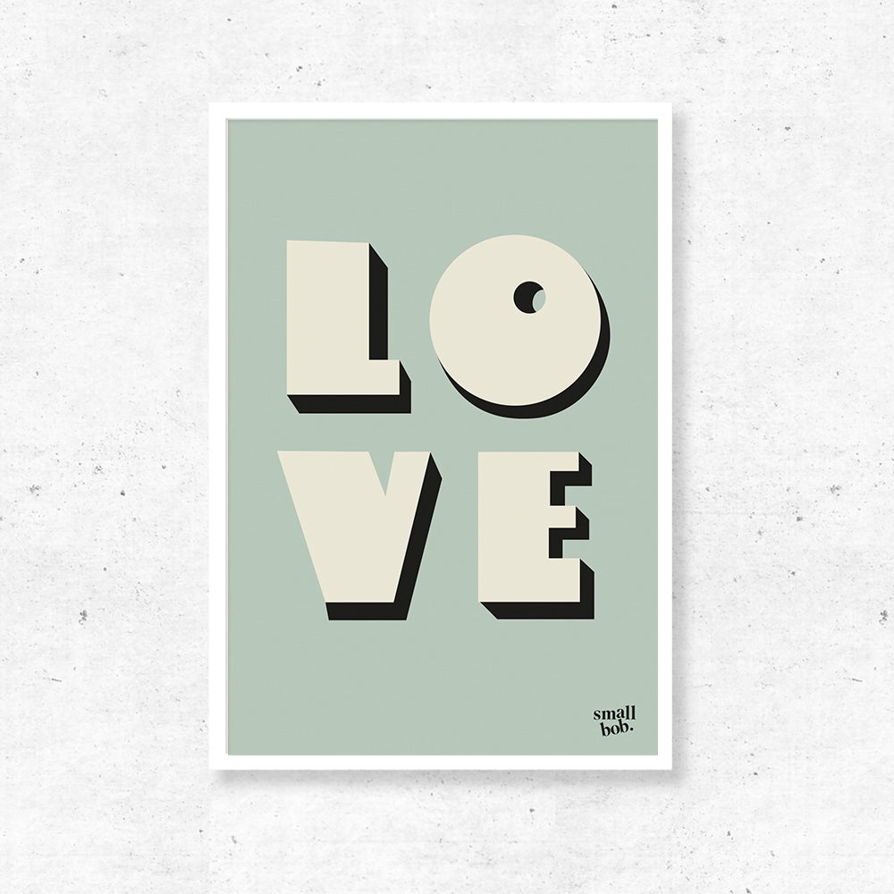 Wall Art - LOVE Print - Green