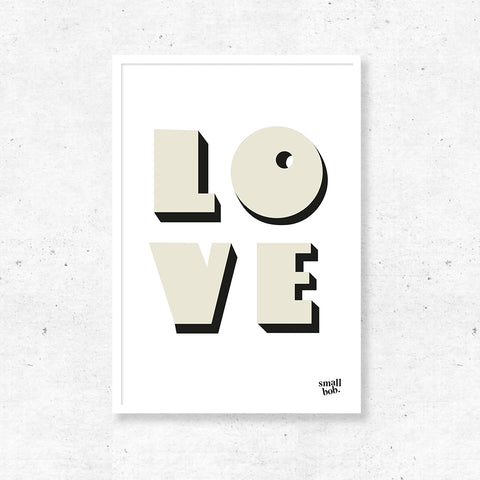 Wall Art - LOVE Print - White