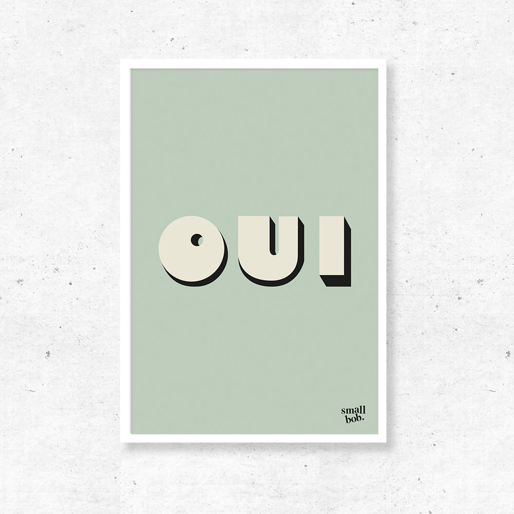 Wall Art - OUI Print - Green