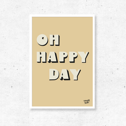 Wall Art - OH HAPPY DAY Print - Yellow