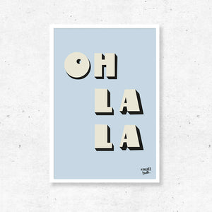 Wall Art - OH LA LA Print - Blue
