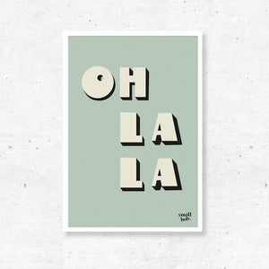 Wall Art - OH LA LA Print - Green