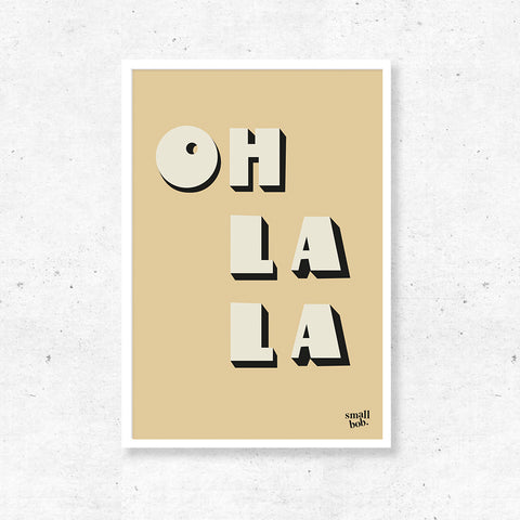 Wall Art - OH LA LA Print - Yellow