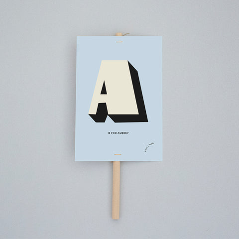 Kids Decor - Initial Placard