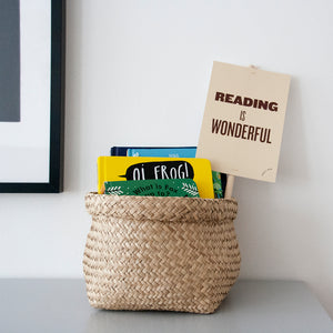 Kids Decor - Reading is Wonderful Placard